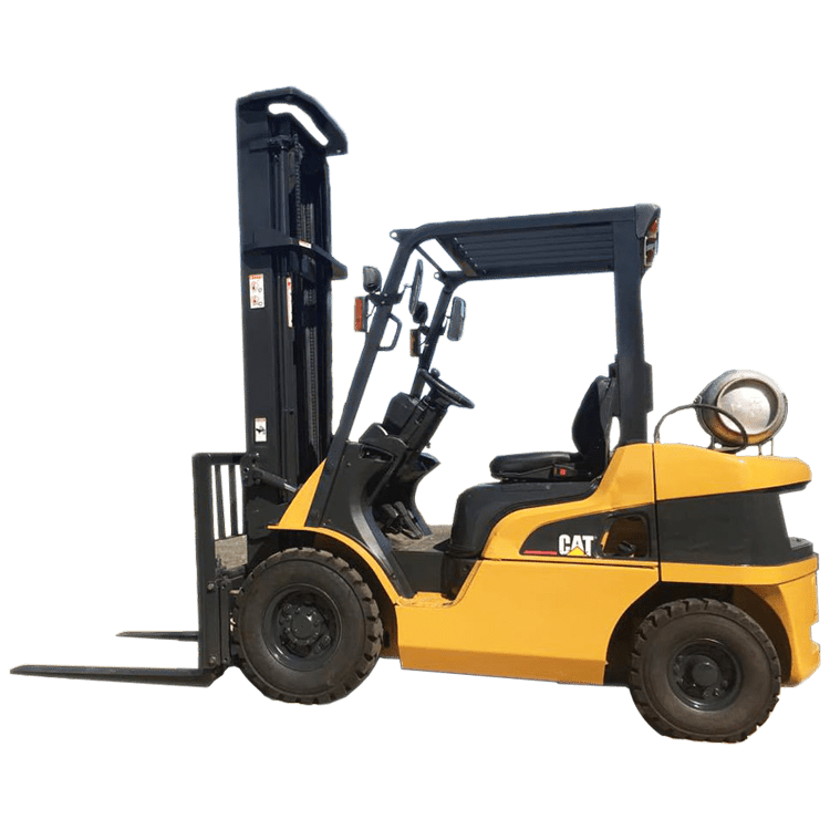 A photo of a yellow forklift representing our forklift repair services.